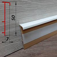 Плинтус для ковролина, высотой 50 мм, 2,5 м Белый, фото 1