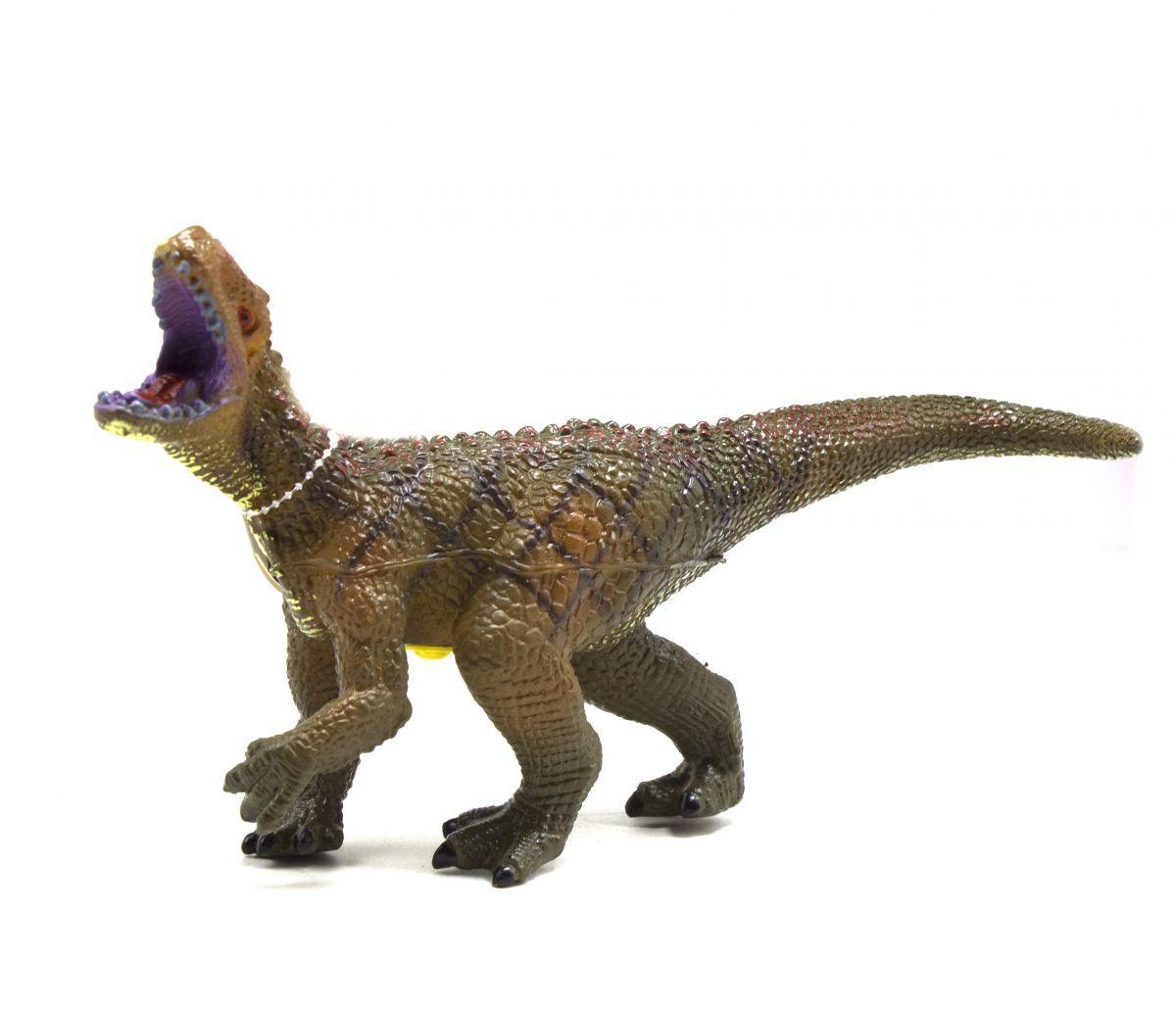 Динозавр резиновый, маленький  со звуком