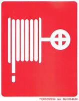 """Знак пожежної безпеки. Наклейка  """"Пожежний кран-комплект"""""""