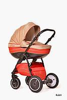 Детская универсальная коляска 2 в 1 Ajax Group Pride Rubin (красный+бежевый (81/921)