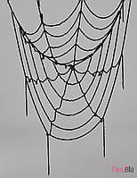 Паутина черная на 5 кругов подвесная 1.5 м на Хеллоуин декор на вечеринку