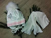 Детский комплект шапка и шарф на флисе,AGBO.размер(42-44), фото 1