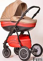 Детская универсальная коляска 2 в 1 Ajax Group Pride Ferri (красный+беж (81/24)