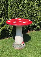 Садовая декорация из магнезии - столик Грибочек