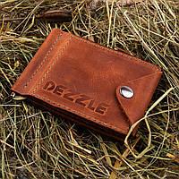 Кожаный кошелек-зажим для денег и карточек Dezzle 2608 коричневый