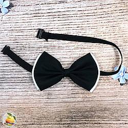 Двойная черно белая бабочка для мальчиков Универсального размера (vk85A4)