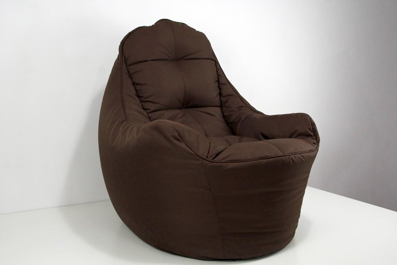 Бескаркасное Кресло мешок груша диван коричневый BOSS (XL)