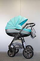 Детская универсальная коляска 2 в 1 Ajax Group Pride Lagoon (серый+бирюзовый (98/х99)