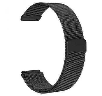 Миланский сетчатый ремешок Primo для часов Garmin Vivoactive 3 / Vivomove HR / Forerunner 245/645 - Black