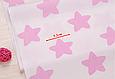 Сатин (хлопковая ткань) розовые звезды (пряники) (55*155), фото 2