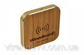 Беспроводная зарядка WoodbooD Wireless Charge Standart  Gold Plus