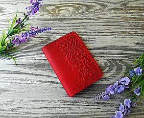 Обкладинка на права міні і id паспорт червона вишиванка, фото 2