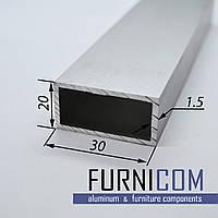 Труба алюминиевая прямоугольная 30х20х1.5 / AS