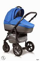 Детская универсальная коляска 2 в 1 Ajax Group Glory  Agat (серый+синий (98/14)