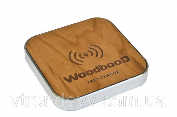 Беспроводная зарядка WoodbooD Wireless Charge Standart Silver Plus