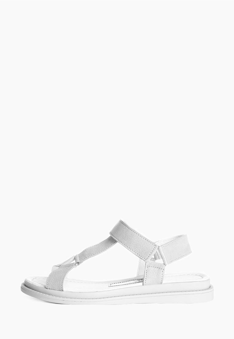 VM-Villomi Стильные светлые кожаные босоножки с пряжками