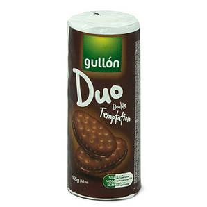 Печиво GULLON Duo сендвіч темне з шоколадним кремом, 165г, 24шт/ящ