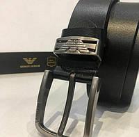 Ремень кожаный  Armani, (с коробочкой для ремня), ремені