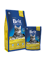 Корм для котів Brit Premium Cat Adult Salmon (взрослых с лососем) 8кг
