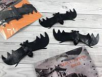 Летучая черная мышь декорации на Хеллоуин резиновая мышь 12*5 см набор 12 штук в упаковке