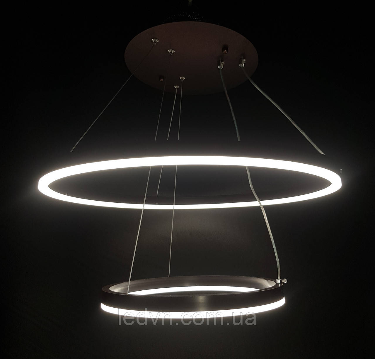 Потолочная светодиодная люстра два кольца 100 ватт диммер