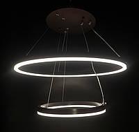 Потолочная светодиодная люстра два кольца 100 ватт диммер, фото 1
