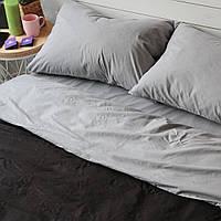Постельное белье семейное поплин PF046 Чёрный/тёмно-серый Хлопковые традиции, фото 1