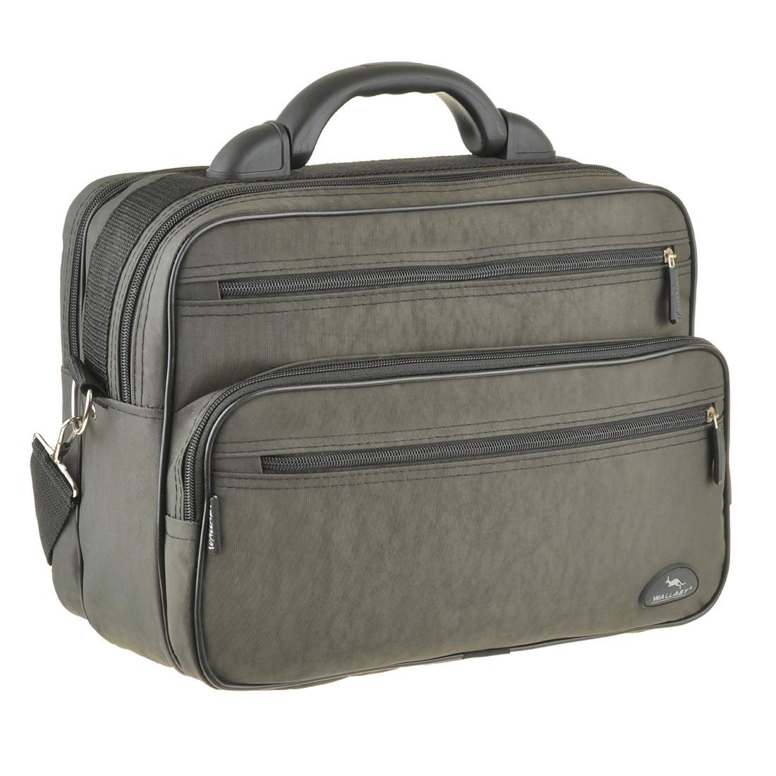 Мужская сумка Wallaby полу каркас 36х26х16 ткань кринкл, пластиковая ручка  в 26531х