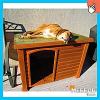 Деревянная будка для собаки TokarMebel «Тераса»