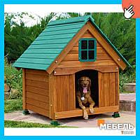 Деревянная будка для собаки TokarMebel «Бульдог-2»