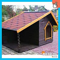 Деревянная будка для собаки TokarMebel «Энгельгарт»