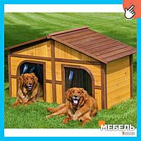 Деревянная будка для собаки TokarMebel «Дубль Кабина»