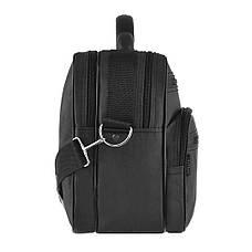 Мужская сумка Wallaby полу каркас 36х26х16 ткань чёрный кринкл, ручка пластиковая  в 26531ч, фото 2