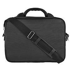 Мужская сумка Wallaby полу каркас 36х26х16 ткань чёрный кринкл, ручка пластиковая  в 26531ч, фото 3