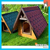 Деревянная будка для собаки TokarMebel «Мастиф»