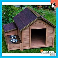 Деревянная будка для собаки TokarMebel «Премиум+»