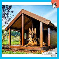 Деревянная будка для собаки TokarMebel «Овчарка»