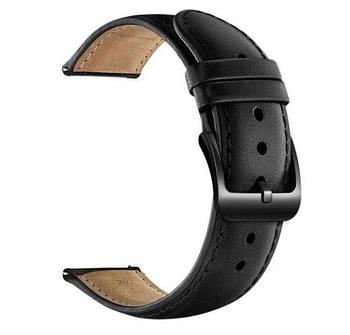 Кожаный ремешок Primo для часов Garmin Vivoactive 3 / Vivomove HR / Forerunner 245/645 - Black
