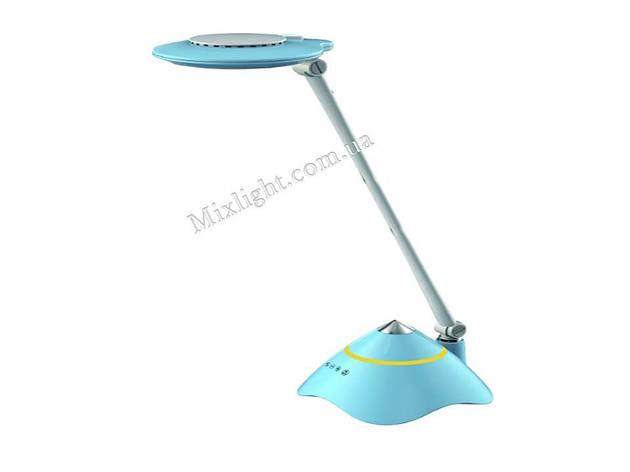 Led лампа настільна синя 8W з діммером і трьома режимами регулювання колірного потоку BL1077, фото 2