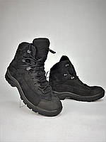 Ботинки тактические Командос нубук мембрана черные