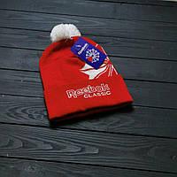 Шапка зимняя спортивная Reebok красная