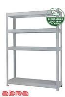 Стеллаж металлический для склада/магазина/гаража ЧК-300 1960х920х720,покрашенный,4 полки ЛДСП, до 500 кг/полку