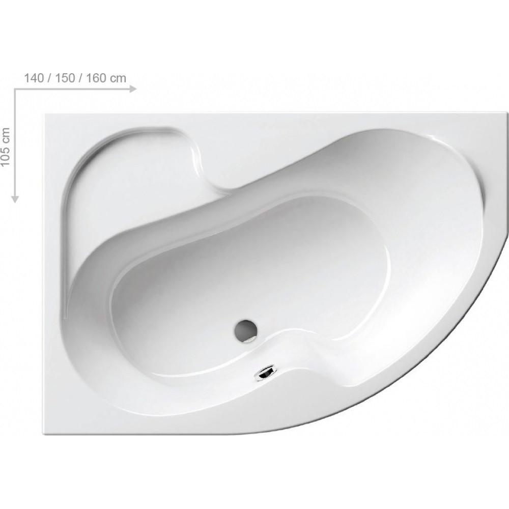 Ванна угловая асимметричная Ravak Rosa I левосторонняя