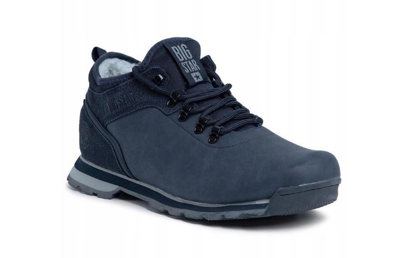 Трекінгові теплі чоловічі черевики Big Star, темно-сині. Р. 41-45