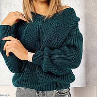 Вязаный зимний свитер батник женский теплый свитшот размеры 42-46  Новинка есть цвета