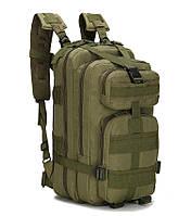 Тактический, военный, походный рюкзак Military. 25 L. Хаки. Милитари.  / T 423