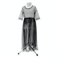 Детское черное фатиновое платье