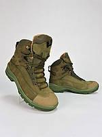 Ботинки таткические Командос нубук на мембране хаки