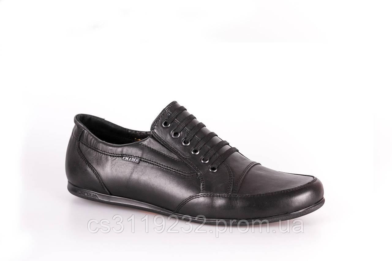 Кеди Prime Shoes шкіряні, чорні