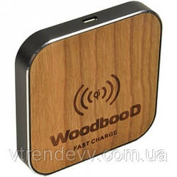 Беспроводная зарядка WoodbooD Wireless Charge Standart Black Plus